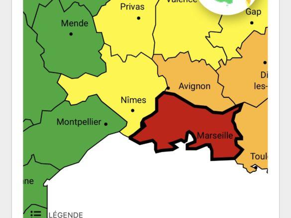 Fil infos – les Bouches-du-Rhône placées en Vigilance rouge «pluie-inondation»