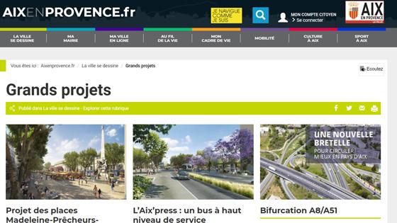 Le site d'informations  de la ville d'AIX EN PROVENCE